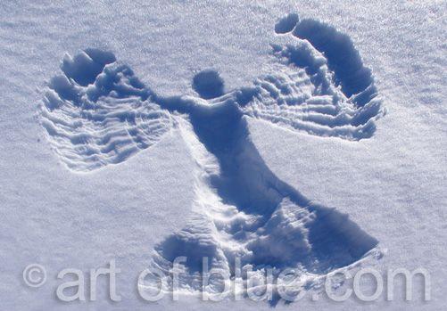 Grusskarte Schneeengel P185