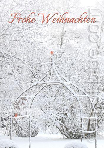 Weihnachtskarte Wintergarten p292