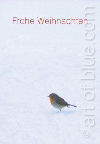 Weihnachtskarte Rotkehlchen P217