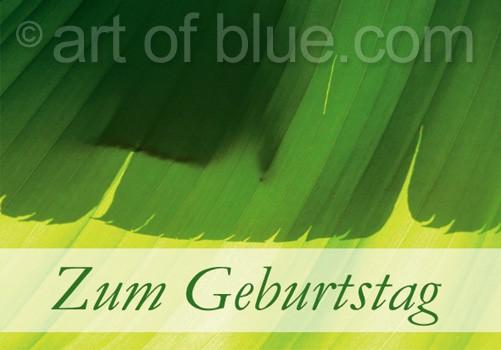 """Grusskarte Bananenblätter """"Zum Geburtstag"""" p438"""
