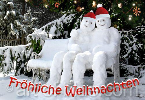 Weihnachtskarte Schneepaar P242