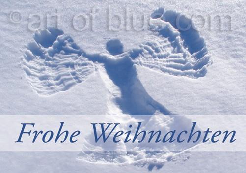 """Schneeengel """"Fröhe Weihnachten"""" p456"""