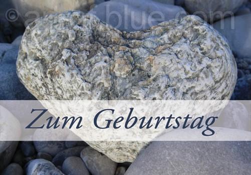 """Grusskarte """"Zum Geburtstag"""" Kieselherz"""