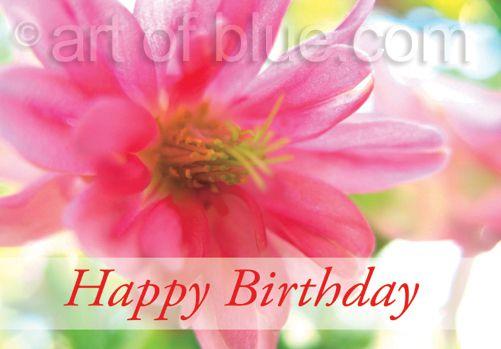 Grusskarte Akelei Happy Birthday P281