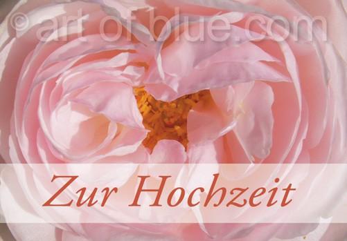 Grusskarte Rosenherz Zur Hochzeit p417
