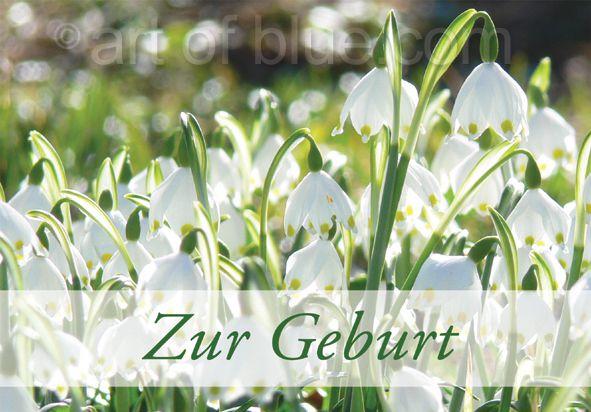 "Grusskarte Märzenbecher ""Zur Geburt"" P457"