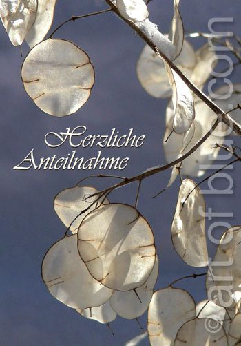 Trauerkarte Silberblatt P243