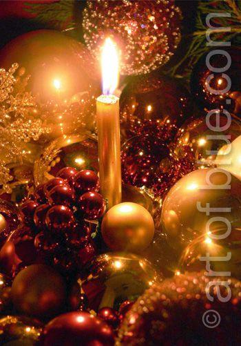 Weihnachtskarte Kerzenschein p134