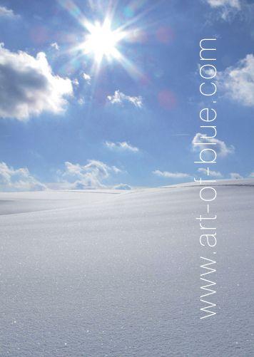 Große Grußkarte Schneelandschaft p806