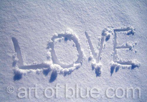 Grusskarte Love im Schnee P182