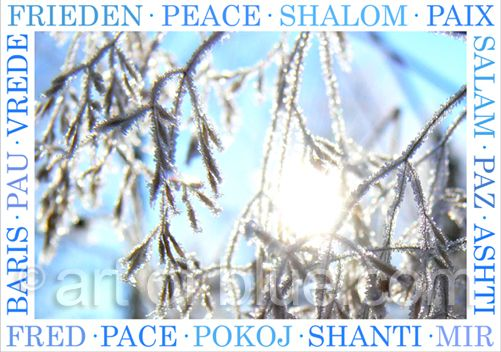 Grusskarte Frieden mehrsprachig p291