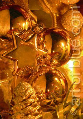 Weihnachtskarte Goldschatz p133