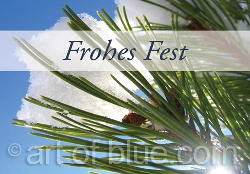 "Grusskarte ""Frohes Fest"" Kiefer p427"
