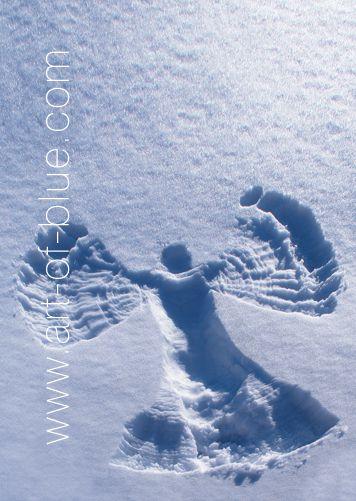 Große Grußkarte Schneeengel p801