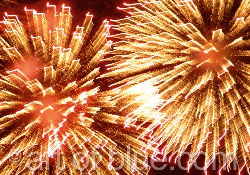 Grusskarte Feuerwerk p104
