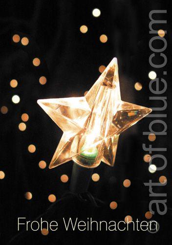Weihnachtskarte Stern P188