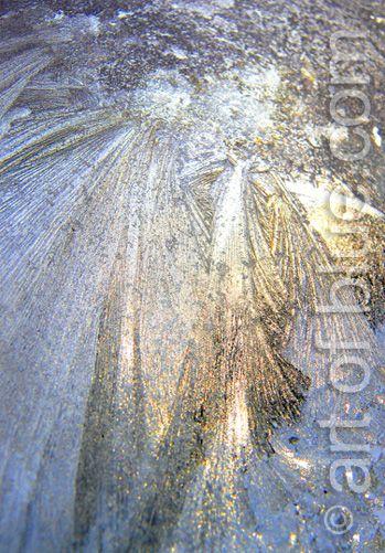 Grusskarte Engel Eisblumen P245