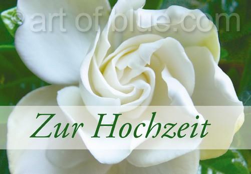"""Grusskarte """"Zur Hochzeit"""" Gardenia p433"""