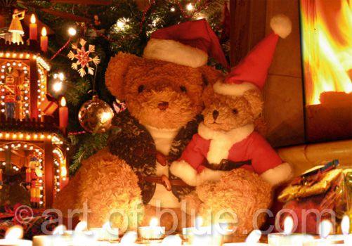 Grusskarte Bärige Weihnachten p130